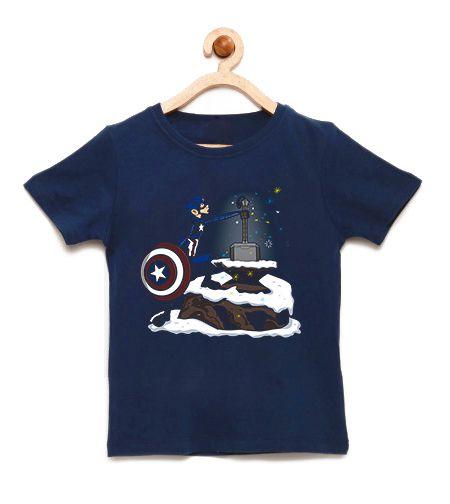 Camiseta Infantil O Poder do Martelo - Loja Nerd e Geek - Presentes Criativos