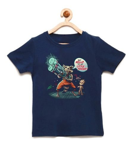 Camiseta Infantil Say Hello - Loja Nerd e Geek - Presentes Criativos