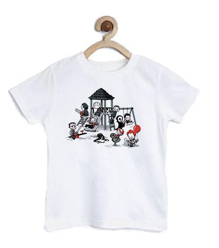 Camiseta Infantil Parque do Horror - Loja Nerd e Geek - Presentes Criativos