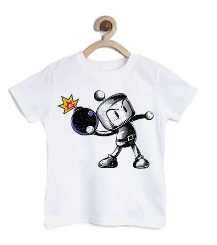 Camiseta Infantil Bombardeio- Loja Nerd e Geek - Presentes Criativos