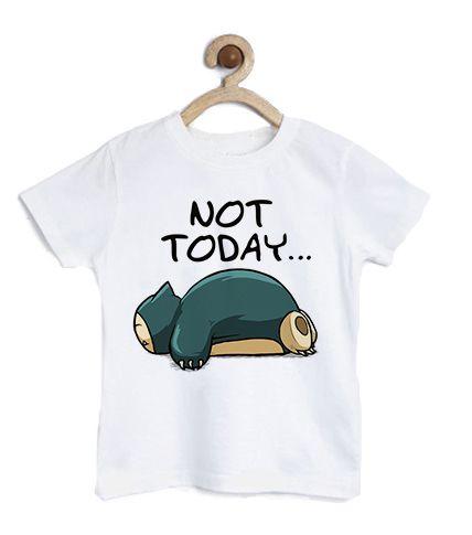 Camiseta Infantil Hoje não - Loja Nerd e Geek - Presentes Criativos