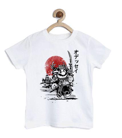 Camiseta Infantil Plumber Samurai - Loja Nerd e Geek - Presentes Criativos