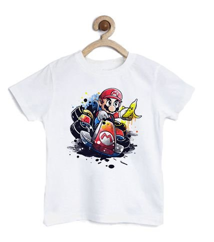 Camiseta Infantil Plumber Car - Loja Nerd e Geek - Presentes Criativos