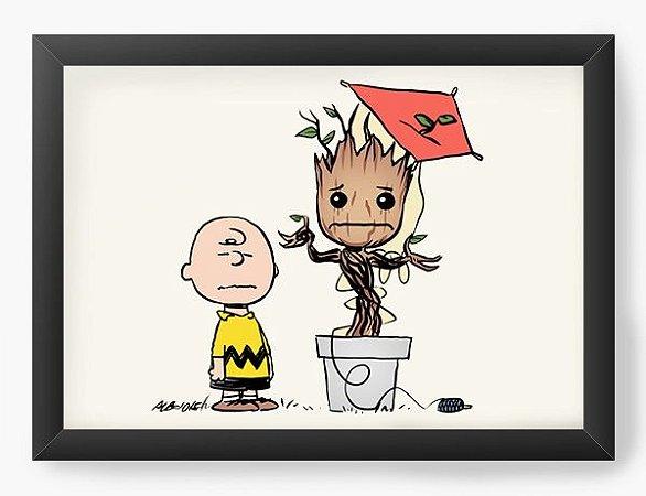 Quadro Decorativo A3 (45X33) Boy and Friend Tree  - Loja Nerd e Geek - Presentes Criativos