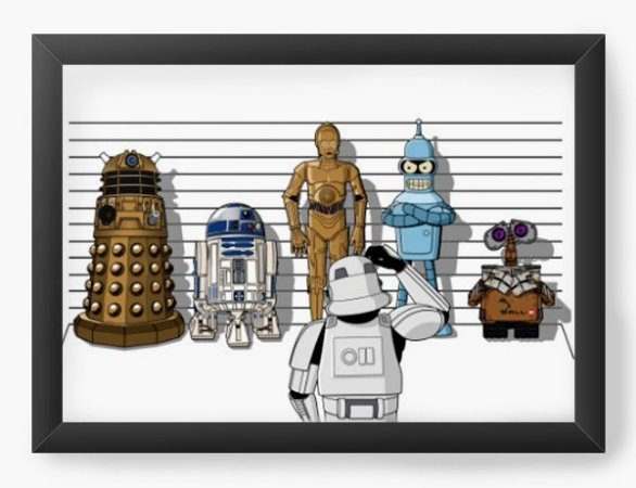 Quadro Decorativo A3 (45X33) Galactic Machines - Loja Nerd e Geek - Presentes Criativos
