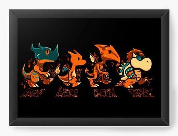 Quadro Decorativo A3 (45X33) Geekz Boss  Evolution - Loja Nerd e Geek - Presentes Criativos