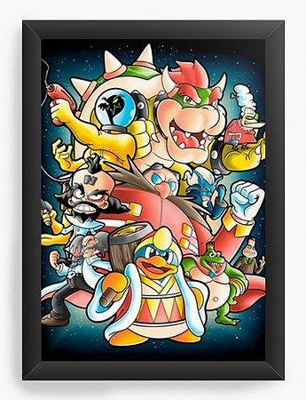 Quadro Decorativo A3 (45X33) Geekz Boss - Loja Nerd e Geek - Presentes Criativos