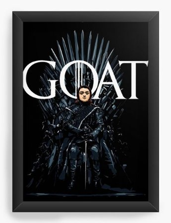 Quadro Decorativo A3 (45X33) Geekz Game of Thrones - Arya Stark - Loja Nerd e Geek - Presentes Criativos