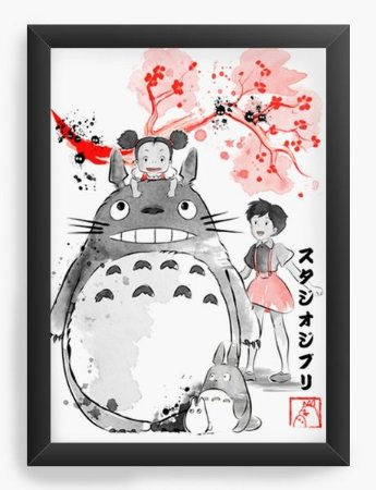 Quadro Decorativo A3 (45X33) Geekz Meu amigo Totoro - Loja Nerd e Geek - Presentes Criativos