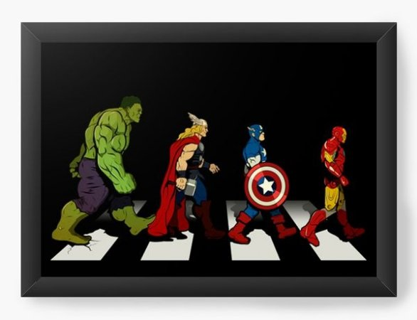 Quadro Decorativo A3 (45X33) Geekz Os A Vingança - Loja Nerd e Geek - Presentes Criativos