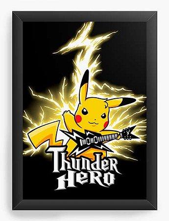 Quadro Decorativo A3 (45X33) Geekz Pikachu Hero - Loja Nerd e Geek - Presentes Criativos