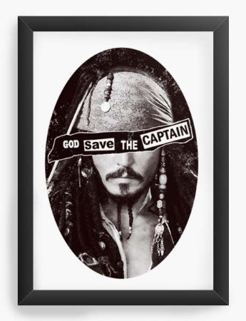 Quadro Decorativo A3 (45X33) Geekz Piratas do Caribe - Loja Nerd e Geek - Presentes Criativos