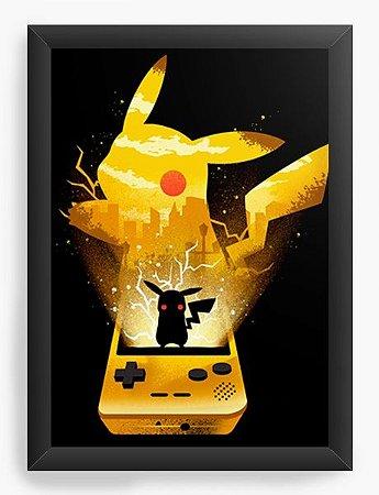 Quadro Decorativo A3 (45X33) Geekz Pokemon Pikachu - Loja Nerd e Geek - Presentes Criativos
