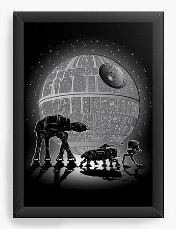 Quadro Decorativo A3 (45X33) Geekz Space Wars - Loja Nerd e Geek - Presentes Criativos