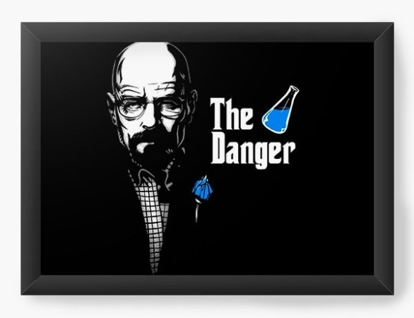 Quadro Decorativo A3 (45X33) Geekz The Danger - Loja Nerd e Geek - Presentes Criativos