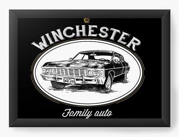 Quadro Decorativo A3 (45X33) Geekz Winchester Family - Loja Nerd e Geek - Presentes Criativos