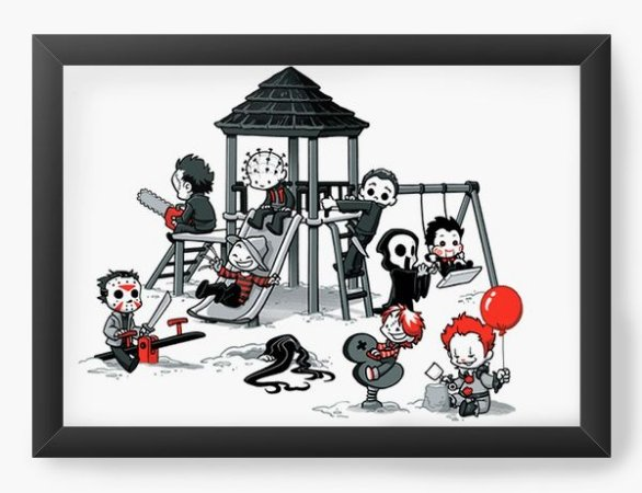 Quadro Decorativo A3 (45X33) Parque do Horror - Loja Nerd e Geek - Presentes Criativos