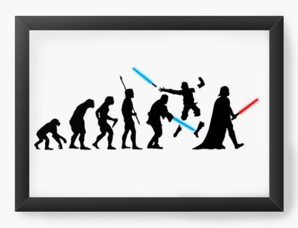 Quadro Decorativo A3 (45X33) Space Wars Evolution - Loja Nerd e Geek - Presentes Criativos