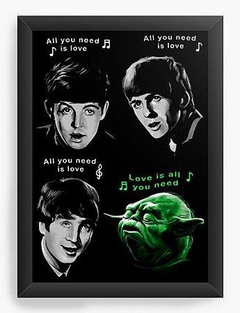 Quadro Decorativo A3 (45X33) The Beatles  - Loja Nerd e Geek - Presentes Criativos