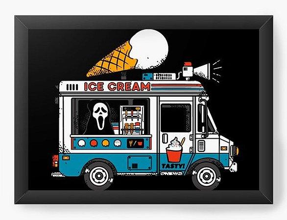 Quadro Decorativo A3 (45X33) Todo Mundo em Panico - Ice Cream - Loja Nerd e Geek - Presentes Criativos