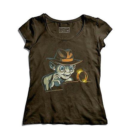 Camiseta Feminina Precioso Anel - Loja Nerd e Geek - Presentes Criativos