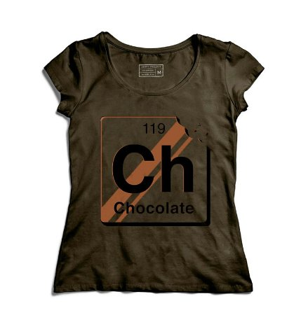 Camiseta Feminina Chocolate - Loja Nerd e Geek - Presentes Criativos