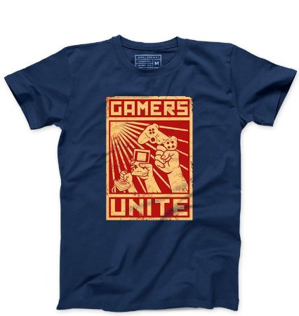 Camiseta Masculina Gamers - Loja Nerd e Geek - Presentes Criativos