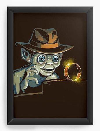 Quadro Decorativo A4 (33X24) Geekz Precioso Anel - Loja Nerd e Geek - Presentes Criativos