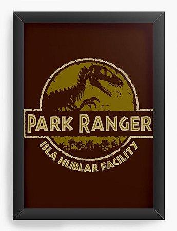 Quadro Decorativo A4 (33X24) Geekz Parque Ranger - Loja Nerd e Geek - Presentes Criativos