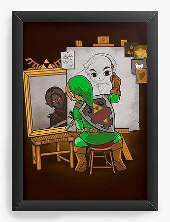 Quadro Decorativo A4 (33X24) Geekz Elf Artista - Loja Nerd e Geek - Presentes Criativos