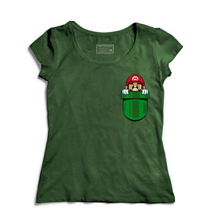Camiseta Feminina Bolso Plumber - Loja Nerd e Geek - Presentes Criativos