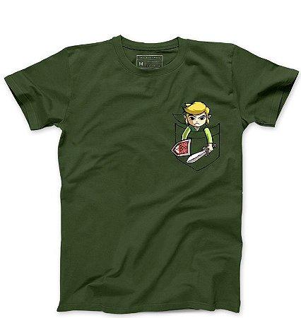 Camiseta Masculina Bolso Elf - Loja Nerd e Geek - Presentes Criativos