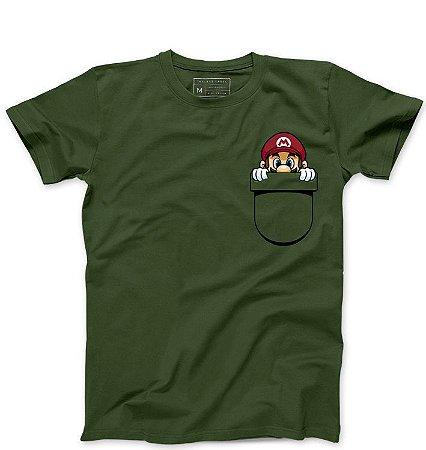 Camiseta Masculina Bolso Plumber - Loja Nerd e Geek - Presentes Criativos