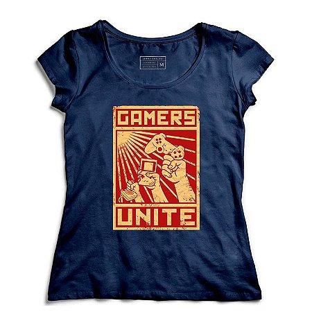 Camiseta Feminina Gamers - Loja Nerd e Geek - Presentes Criativos