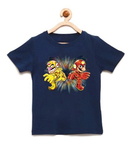 Camiseta Infantil Flash Bros - Loja Nerd e Geek - Presentes Criativos