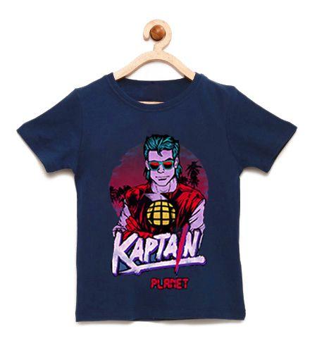 Camiseta Infantil Kaptain Planet- Loja Nerd e Geek - Presentes Criativos