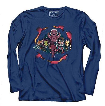 Camiseta Manga Longa Galaxi - Loja Nerd e Geek - Presentes Criativos