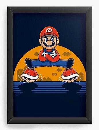 Quadro Decorativo A4 (33X24) Super Plumber - Loja Nerd e Geek - Presentes Criativos