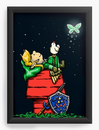 Quadro Decorativo A4 (33X24) Good Grief Link   - Loja Nerd e Geek - Presentes Criativos