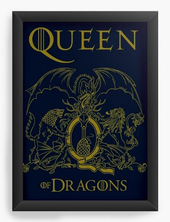Quadro Decorativo A4 (33X24) Queen - Loja Nerd e Geek - Presentes Criativos