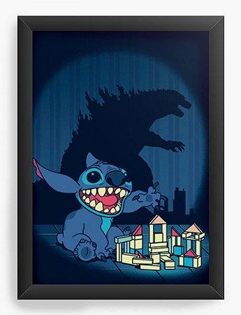 Quadro Decorativo A4 (33X24) Poderoso Monstro - Loja Nerd e Geek - Presentes Criativos