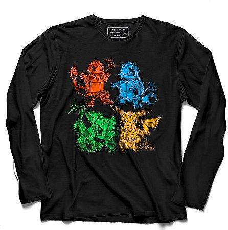 Camiseta Manga Longa Amigos do Pika - Loja Nerd e Geek - Presentes Criativos