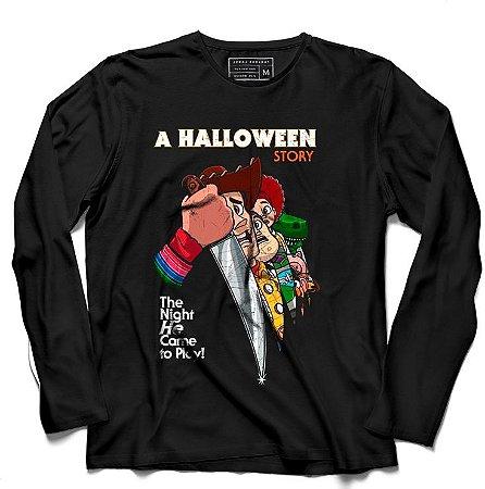 Camiseta Manga Longa A Halloween - Loja Nerd e Geek - Presentes Criativos