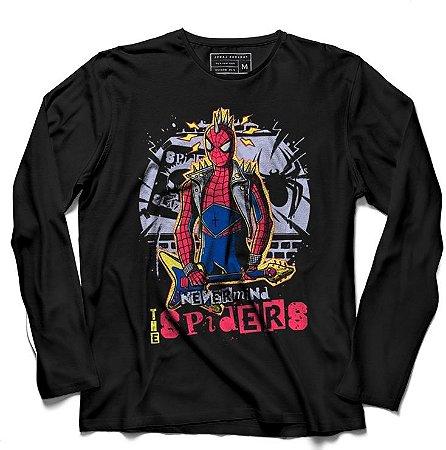 Camiseta Manga Longa Spider - Loja Nerd e Geek - Presentes Criativos