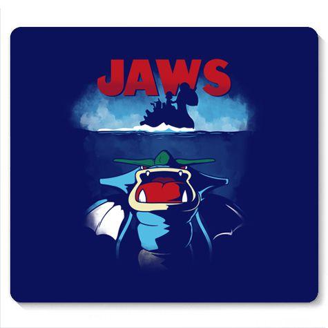 Mouse Pad Jaws  - Loja Nerd e Geek - Presentes Criativos