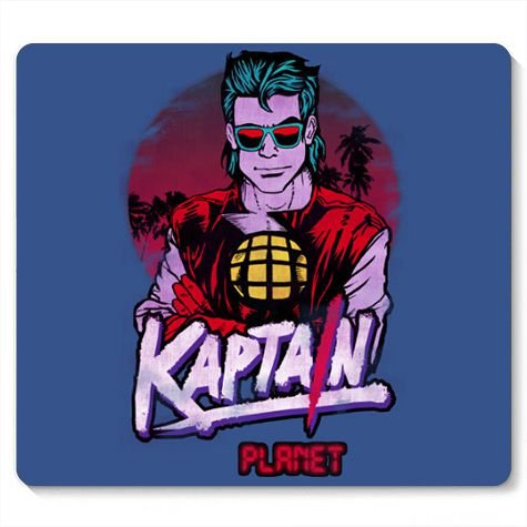 Mouse Pad Capitain Planet - Loja Nerd e Geek - Presentes Criativos