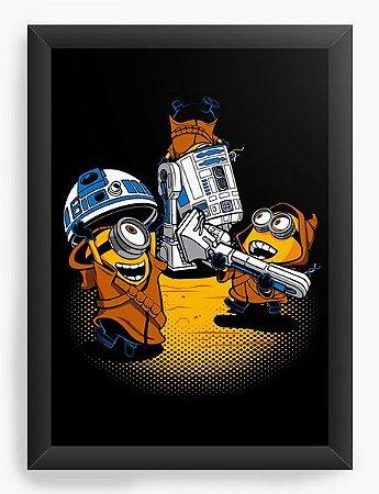 Quadro Decorativo A4 (33X24) Mini Wars - Loja Nerd e Geek - Presentes Criativos
