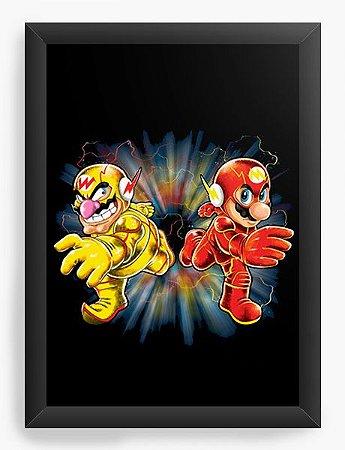 Quadro Decorativo A4 (33X24) Flash Bros - Loja Nerd e Geek - Presentes Criativos