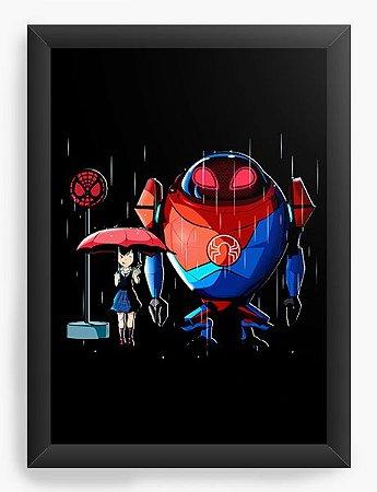 Quadro Decorativo A4 (33X24) My Spider Neighbor - Loja Nerd e Geek - Presentes Criativos