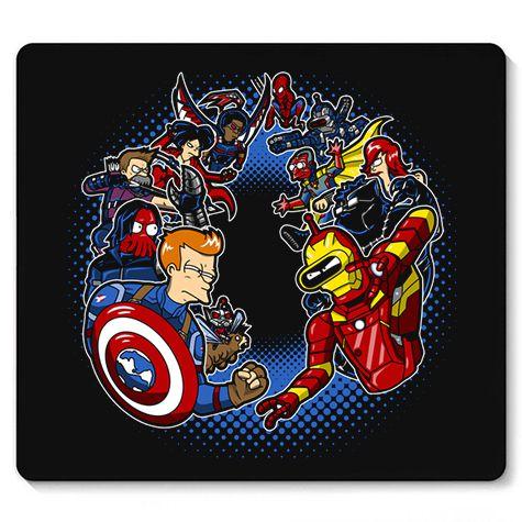 Mouse Pad Homem de lata vs Homem do Escudo - Loja Nerd e Geek - Presentes Criativos
